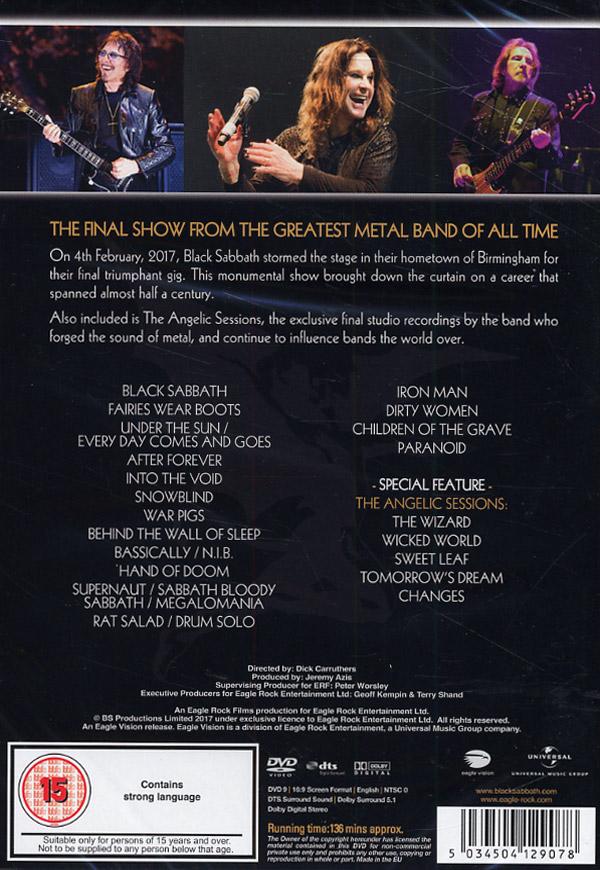 Black Sabbath The end Live 2017 (DVD) musik