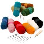 EasyKit: Nålfiltning - Startset Mixade Färger