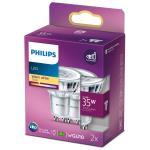 Philips: 2-pack LED GU10 Spot 35W 255lm