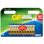 GP Ultra Plus Alkaline Battery, Size AAA, LR03, 1.5V, 10-pack
