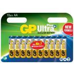 GP Ultra Plus Alkaline Battery, Size AA, LR6, 1.5V, 10-pack