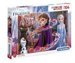 104 pcs. Puzzles Kids Glitter Frozen 2