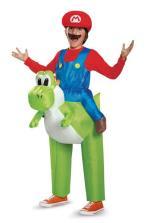 Super Mario Riding Yoshi Inflatable (Child One Size)