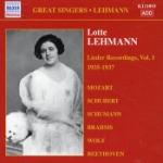 Lieder recordings vol 1 1935-37