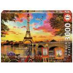 Educa - Puzzle 3000 -  Sunset in Paris (017675)