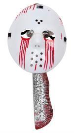 Halloween Bloody Jason Mask w. Machete (95964)