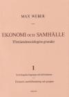 Ekonomi Och Samhälle 1 Förståendesociologins Grunder Sociologiska Begrepp