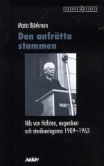 Den Anfrätta Stammen - Nils Von Hofsten, Eugeniken Och Steriliseringarna