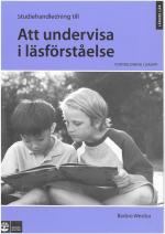 Att Undervisa I Läsförståelse, Studiehandledning