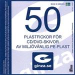 CD-fickor / Skyddsplast 50-pack