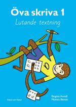 Öva Skriva. 1, Lutande Textning. Arbetsbok