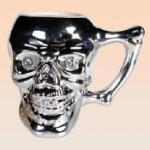 Dödskallemugg med kristaller (Silver)
