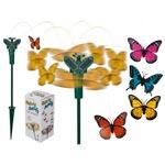 Roterande Fjäril med solcell / Osorterade färger