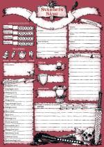 Svärdets Sång - Rollformulärsblock
