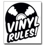 Vinyl Rules Sticker / Klistermärke