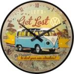 Väggklocka Retro / VW Let`s get lost