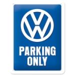 Plåtskylt Retro 15x20 cm / VW Parking only
