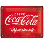 Plåtskylt Retro 15x20 cm / Coca-Cola 1960