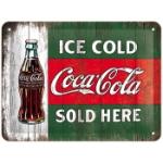 Plåtskylt Retro 15x20 cm / Coca-Cola Vintage