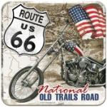 Glasunderlägg Retro / Route 66 National old tr.