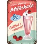 Plåtskylt Retro 20x30 cm / Milkshake