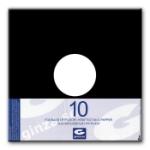 LP-Fickor Fodrade i Papper svarta 10-pack