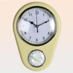 Väggklocka med timer / Gul