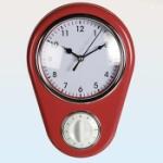 Väggklocka med timer / Röd
