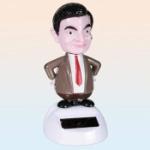 Mr Bean med solcell / Panelprydnad 11cm