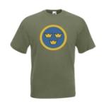 Air Force Sweden / Olivgrön - M (T-shirt)