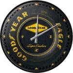 Väggklocka Retro / Goodyear wheel