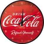 Väggklocka Retro / Coca-Cola Logo