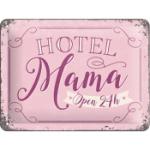 Plåtskylt Retro 15x20 cm / Hotel Mama
