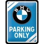 Plåtskylt Retro 15x20 cm / BMW Parking only