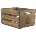 Skivback / Låda i trä för LP-skivor GPO