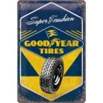 Plåtskylt Retro 20x30 cm / Goodyear tires