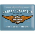 Plåtskylt Retro 30x40 cm / Harley-Davidson free