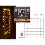 Anslagstavla i nät med belysning 40 LED 10 Clips
