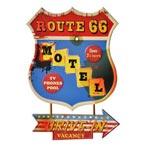 Plåtskylt Retro 43 x 63 cm / Route 66 Motel