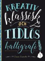 Kreativ Klassisk Och Tidlös Kalligrafi