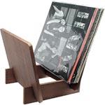 Träställ för LP-skivor / Paolownia wood holder