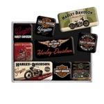 Magnet-set Retro / Harley-Davidson Black