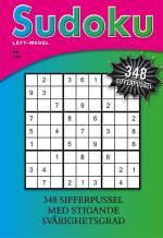 Sudoku- Lätt-medel, 348 Sifferpussel Med Stigande Svårighetsgrad