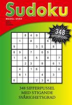 Sudoku- Medel-svår, 348 Sifferpussel