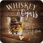 Glasunderlägg Retro / Whiskey & Cigars