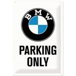 Plåtskylt Retro 20x30 cm / BMW Parking only