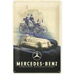 Plåtskylt Retro 20x30 cm / Mercedes-Benz