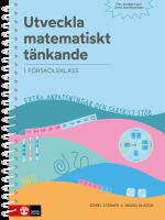Utveckla Matematiskt Tänkande - - I Förskoleklass