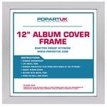 """Vinylram i trä för LP & Maxi 12"""" (Silver)"""