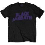 Black Sabbath: Unisex Tee/Wavy Logo Vintage (Retail Pack) (Small)